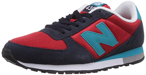 New Balance 430, Unisex-Erwachsene Sneakers, Mehrfarbig (Blue/Red/Blue), 41.5 EU (7.5 UK)
