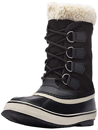Sorel Women's Winter Carnival Boot - Rain and Snow - Waterproof - Black, Stone - Size 7
