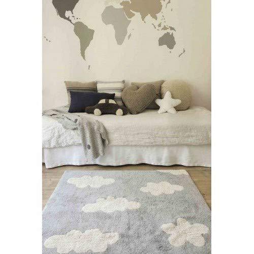 Lorena Canals Clouds Alfombra Lavable 120 x 160 x 30 cm Gris