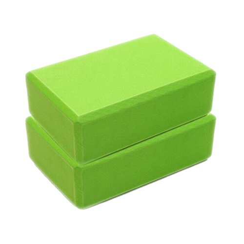 Aniywn Foam Yoga Blocks, Exercise Fitness Yoga Blocks, EVA Foam Brick for Exercise, Pilates, Workout & Gym (Green)