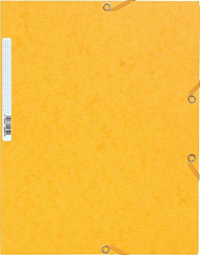 Exacompta 55859E - Carpeta con goma, A4, color amarillo 🔥