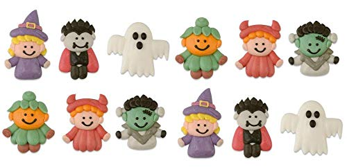 Günthart Monster Mix | Halloween Figuren | Fasching | Karneval | Tortendeko | süße Monster | lustige Monster | Zuckerfiguren | essbar | 12 Stück