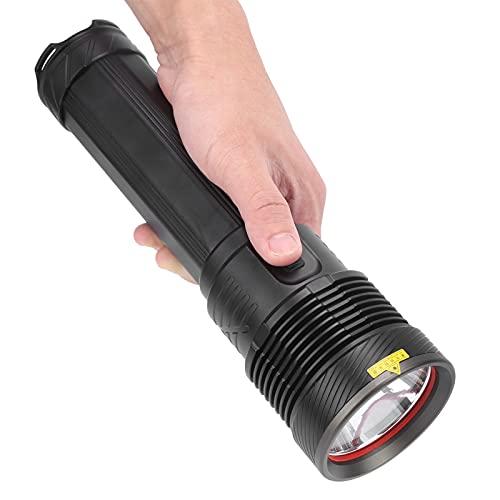 Antorcha potente, carga USB Linterna LED IPX5 Impermeable para emergencias para exteriores para caminatas para acampar