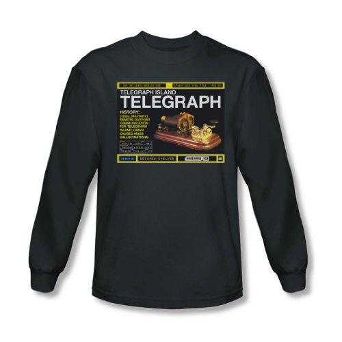 Warehouse 13 - Telegraph Île-shirt à manches longues pour homme au charbon -, X-Large, Charcoal