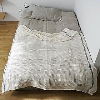 [ フォグ ] フォグリネンワーク fog linen work | コットンブランケット |肌掛け 綿毛布 コットン 綿 寝具|lhe313-nbl|【sf】
