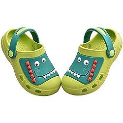 2. MARITONY Kid's Dinosaur Clogs Slippers