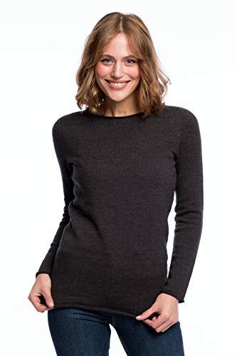 ACHAHHA: Jersey de Punto sin Costuras para Mujer de Lana de Merino ecológica, diseño Atemporal en Calidad, Fabricado en Alemania. Gris M