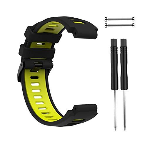 YONGLI Nueva Pulsera Al Aire Libre para Garmin Forerunner 735XT 220 230 235 620 630 Smart Watch Soft Silicone Strap Reemplazo De La Banda De Reloj (Color : White)