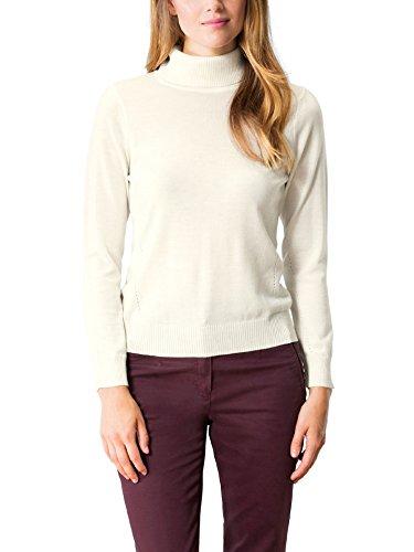 Walbusch Damen Exquisit Rollkragen Pullover einfarbig Ecru 40