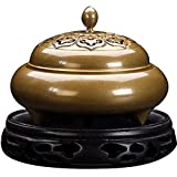 Quemador de Incienso, hogar D & Eacute; Cor Porta Incienso Quemador de Incienso Cobre Puro Hogar Disco Antiguo Horno de sándalo