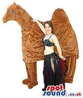 ヒトコブラクダSPOTSOUND LTDマスコット衣装と大人サイズのベリーダンサーの衣装