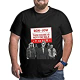 Bon Jovi Camiseta para Hombre Tallas Grandes Camisetas de Manga Corta Camiseta Estampada de algodón XL a 6XL T-Shirts