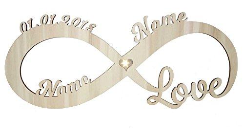 Liebeslicht Herz Liebe I Personalisiert mit Namen & Datum I Das perfekte Liebesgeschenk zum Geburtstag Hochzeit für Frau Mann Freund Freundin Paare Männer Frauen