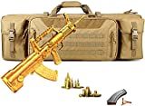 WSVULLD Bolsa De Rifle, Paquete Táctico De Doble Pistola Multifunción Y De Gran Capacidad, Estuche Portátil con Correa para El Hombro, Senderismo, Pesca