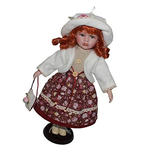 Bambola di Porcellana Vittoriana Ragazza in Piedi Figure - Bianco