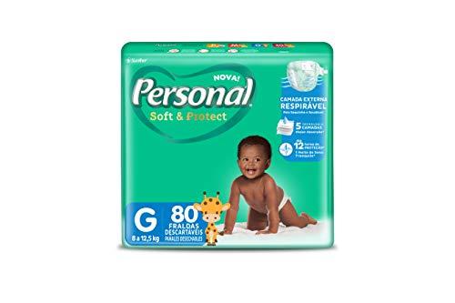Fralda Descartável Soft and Protect Hiper, Personal, Grande, 80 unidades (Embalagem pode variar)