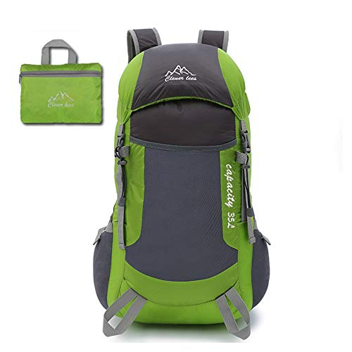 HXXBY Montaña Escalada Deportes Bolsa Plegable Ultra luz Bolso de Viaje Plegable luz portátil Hombro al Aire Libre montañismo Mochila (Color : Verde)