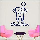 Zahnpflege Wandtattoo Dekorative Abziehbilder für die Rezeption der Zahnklinik entfernbares Vinyl-Pflegezeichen Wandtattoo 42x33cm