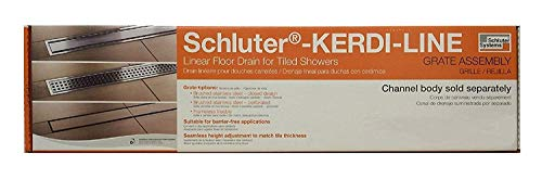 """Schluter Systems Kerdi-Line 3/4"""" Frame, 28"""" Perforated Grate Assembly Chrome (KL1B19EP70)"""