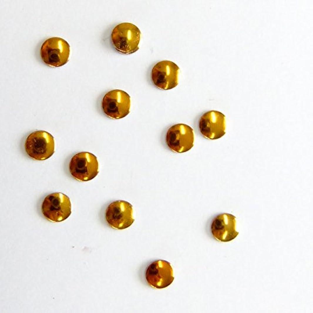 ヒゲクジラガス弁護人ミスティックフレース ネイル用ストーン メタルスタッズ サークル 3mm ゴールド 50P