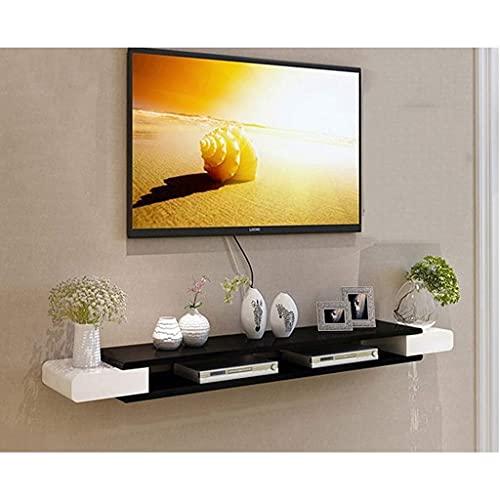 Gabinete de TV, TV baja, estantes flotantes, consola de televisión flotante, 43.3 / 51.1 / 59 pulgadas Consola de medios montada en pared, para accesorios de TV, reproductor de DVD, enrutador wifi, ca