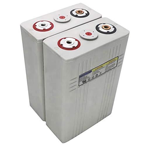 GJZhuan 3.2V 100Ah Célula De Fosfato De Hierro Litio 2/4/6/8 / 16pcs LIFEPO4 Battery Pack Solar 12V100AH 24V100AH 48V100AH Células UE EE. UU. (Size : 4pcs)