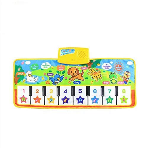 ダンスマットベビーピアノ音楽プレイマットアニマルサウンド鍵盤クロールブランケット子供のためのキッズギフト教育カーペット電子玩具