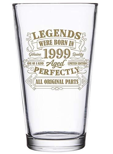 BadBananas - 21st Birthday Gifts For Men or Women - Legends Were Born In 1999-16 oz Beer Pint Glass...