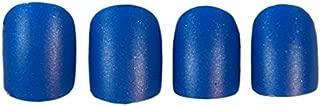 JINDIN 24 Sheet Matte Fake Nails With Nail Glue Acrylic French Short False Nail Art Tips Full Cover Press On Nails for Girls Women Blue