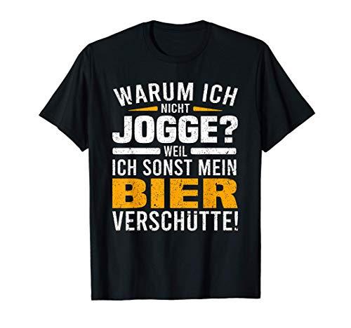 Sportmuffel Sport ist Mord Bier Biersäufer Wampe Bierbauch T-Shirt