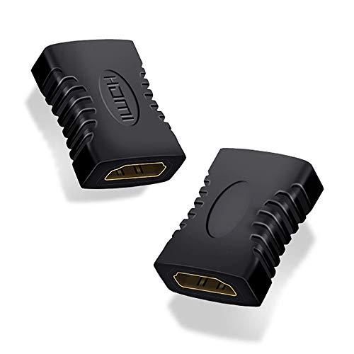 VMOJO 2X HDMI Adapter Kupplung Verbinder HDMI Buchse auf HDMI Buchse Type A Full HD 1080p HDR ARC Highspeed mit Ethernet VERGOLDETE Kontakte