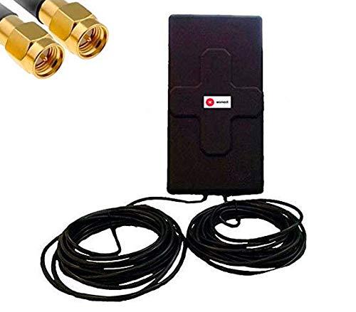 Antena 4G 50dbi LTE UMTS 3G exterior con cable SMA integrado en antena. Alta potencia. Largo alcance. Mejora señal Routers 4G conexión SMA antena exterior. Compatible Router conexión antena SMA (15m)