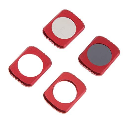 Hellery Kit Filtro Obiettivo 4 Pezzi 12,5X Star CPL ND16 per Quadricottero Drone Tascabile OSMO