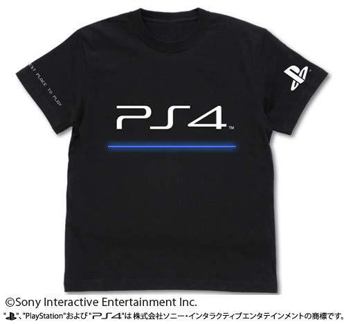 """プレイステーション Tシャツ """"PlayStation 4"""" ブラック XLサイズ"""