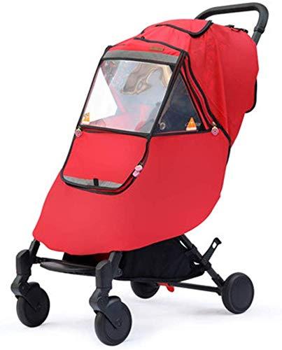 KaiKai Kinderwagen Regen-Abdeckung Kinderwagen Wetterschutzabdeckung warmes Winter-Baby aus der Artifact Windschutzscheibe Universal-Stroller Raincoat (Farbe: E, Größe: Eine Größe)