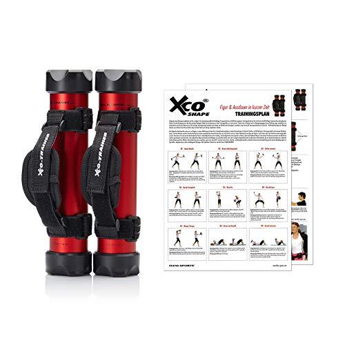 XCO-TRAINER® Shape Set, 2 x XCO-Trainer, 2 x Handschlaufen, 1x Trainingsplan