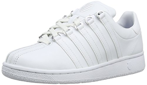 K-Swiss womens Classic Vn Lifestyle Sneaker, White/White, 8.5 US