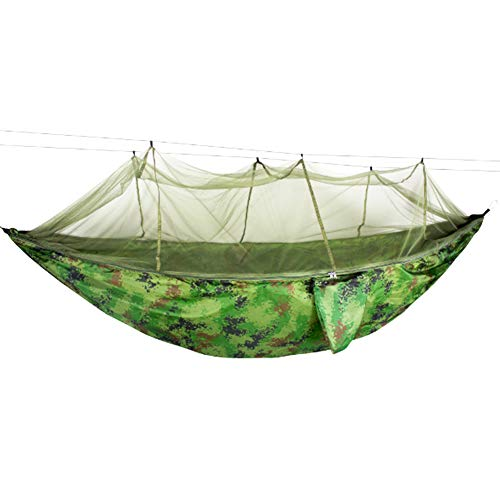 ValueHall Camping Hangmat met Muggennet Ultralight Enkele en Dubbele Hangmat Outdoor Parachute Nylon Hangmat voor Camping Wandelen Backpacking V7079C