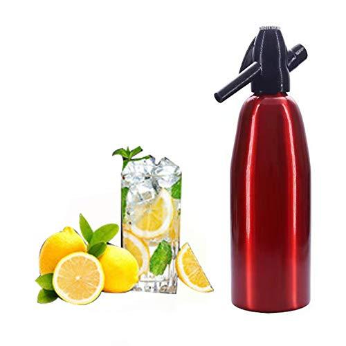 Professionele legering Seltzer Water Creator,1L Soda sifon fles voor sapdranken sprankelende cocktail,rood