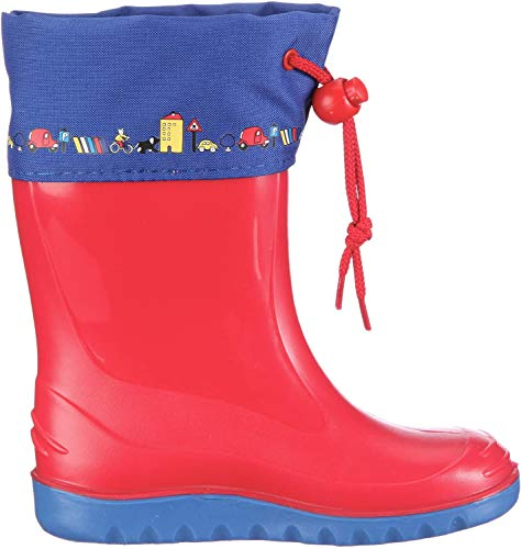 Romika Unisex-Kinder Jerry Gummistiefel, Rot (Rot-blau 413), 23 EU