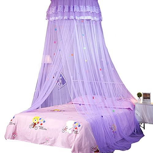 MOVKZACV Mosquitera Dome para cama, tienda de campaña para niñas, mosquitera para habitación infantil, nueva tienda de campaña para colgar, 2,7 m de altura