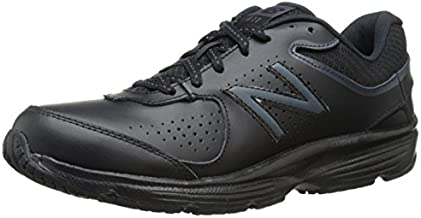 New Balance Women's 411 V2 Lace-Up Walking Shoe, Black, 9 M US