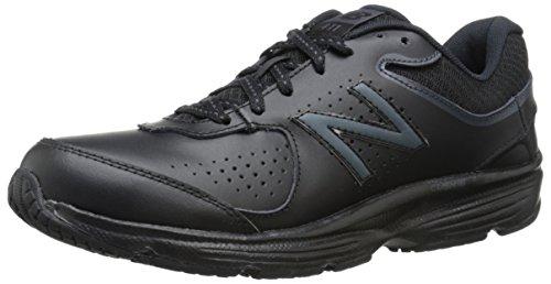 New Balance Women's 411 V2 Lace-Up Walking Shoe, Black, 5.5 M US
