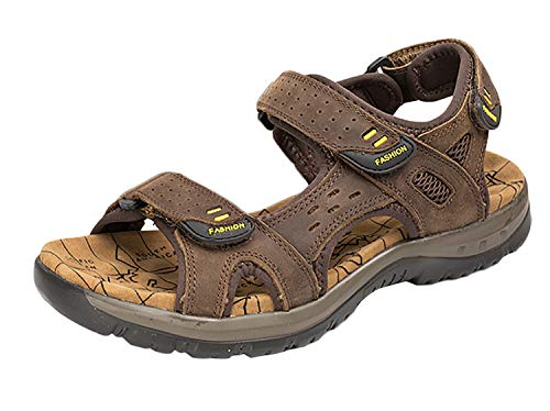 SK Studio Sandales de Sport pour Hommes Chaussures de randonnée Ajustables pour Femmes Chaussures de Plage d'été Confortables Marron foncé, 43 EU