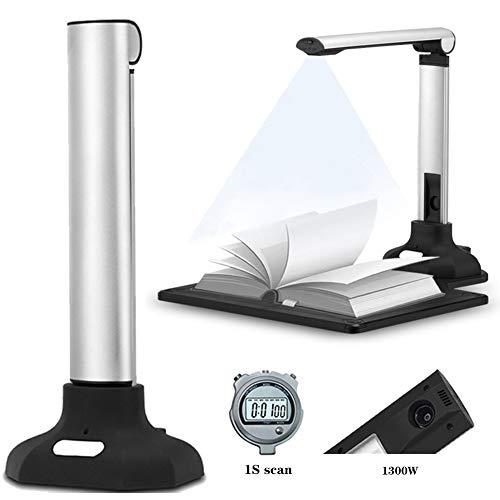 EnweLampi Buchscanner & Dokumentenscanner, 12MP Pixel professioneller tragbarer High-Definition-Buchscanner, intelligent OCR, maximale A3-Größe für Büro- und Bildungspräsentationen