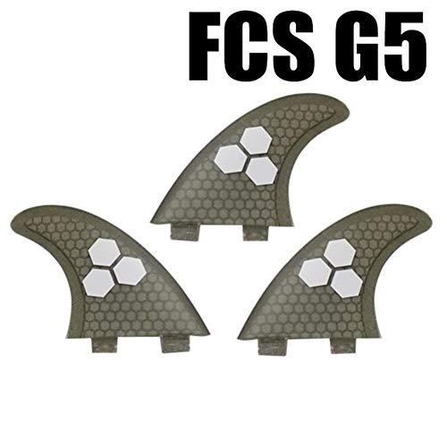 Lijincheng Tabla de Surf FCS G5 Fibra Fin De Nido De Abeja G5 Surf Surf FCS Quilla Aletas Prancha Quilhas De Tablas De Surf Fin De Fibra De Vidrio (Color : 09 G5)