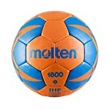 Molten Ballon DE Handball HX1800 2019-20 (Taille 0, Shocking Orange/Roy)