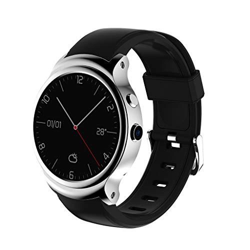 JURTEE ♥ I3 Smart Watch 1,5 Zoll MTK6580A Quad Core 1,3 GHz Android 5.1 3G Intelligente Armbanduhr 500mAh 2,0 Megapixel Kamera Armbanduhr für Android IOS (Silber)