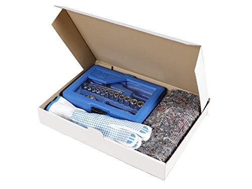 50 Maxibriefkartons 320 x 225 x 50 mm weiß | Versandkarton geeignet für Warensendung mit DHL | wählbar 25-2000 Kartons