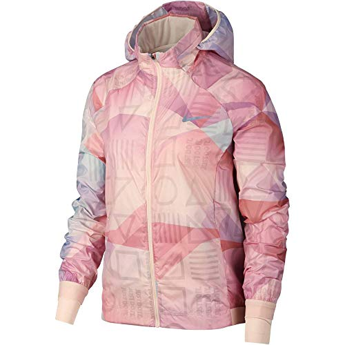 Nike Damen Shield Jacke Kapuzenjacke, Guava Ice/Guava Ice, XS